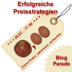 "Blogparade ""Preisstrategien"" Logo gross"